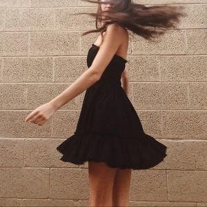 Black Strapless UO Dress